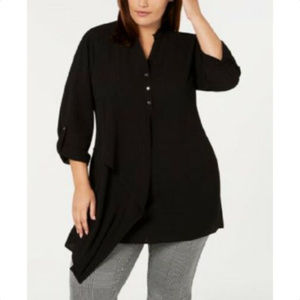 NY COLLECTION 1X Womens Plus Size Blouse Shirt Top